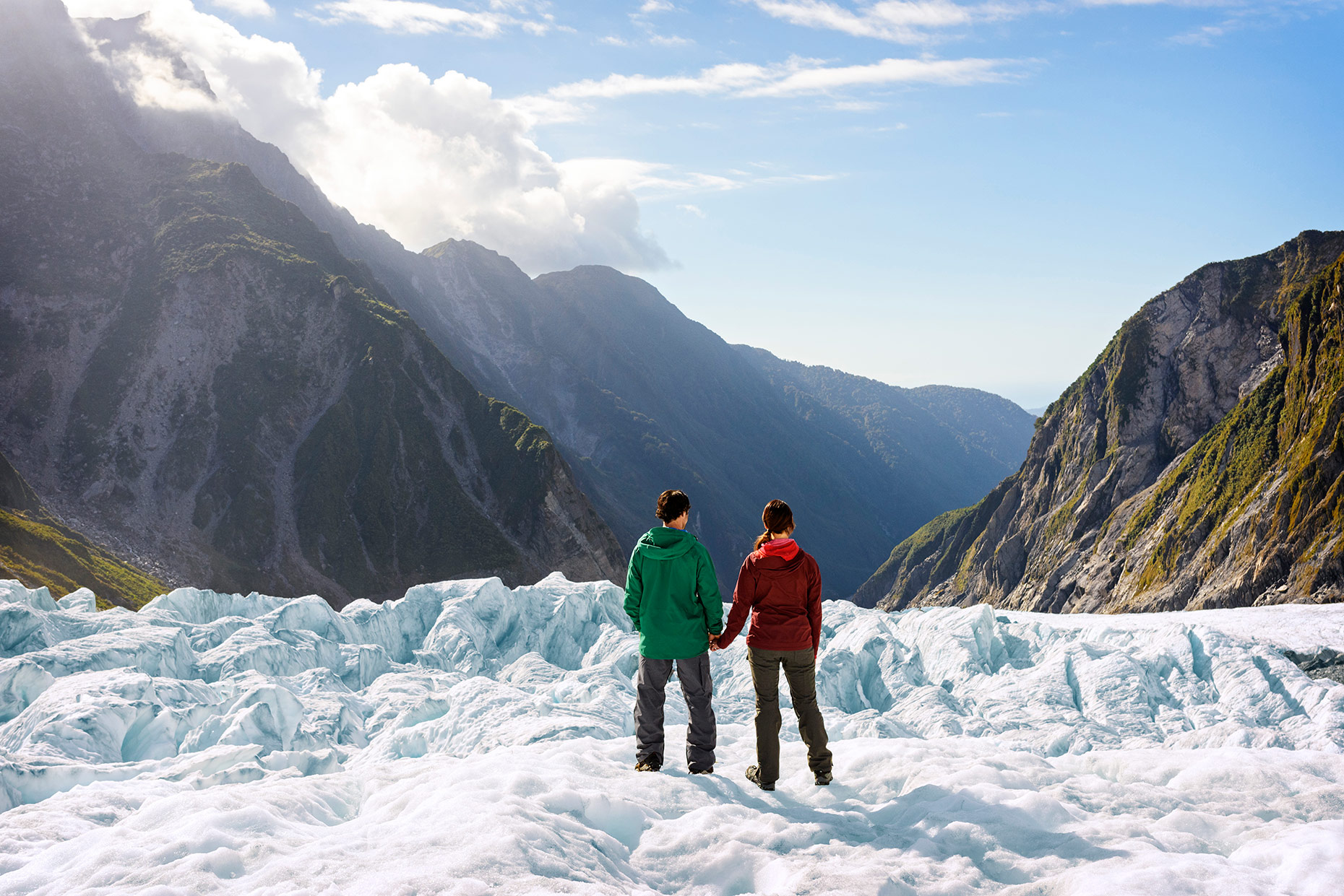 Fox Glacier New Zealand Photography for New Zealand Tourism. Fraser Clements Photographer Lifestyle image